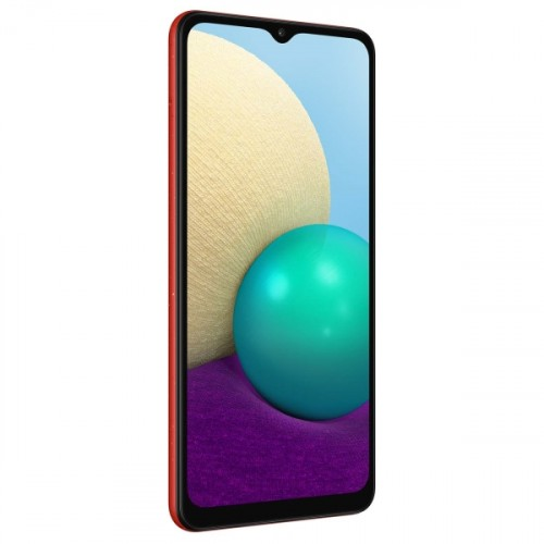 Смартфон Samsung Galaxy A02 32Gb 2Gb красный (SM-A022GZRBSER)