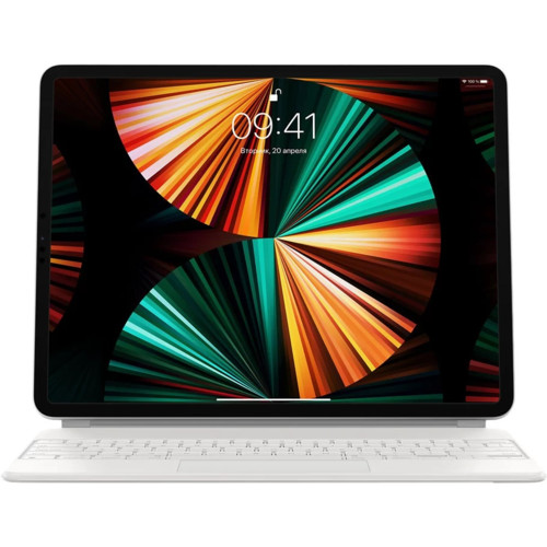 Аксессуары для смартфона Apple Чехол-клавиатура Magic Keyboard for iPad Pro 12.9-inch (5th generation) - Russian - White (MJQL3RS/A)