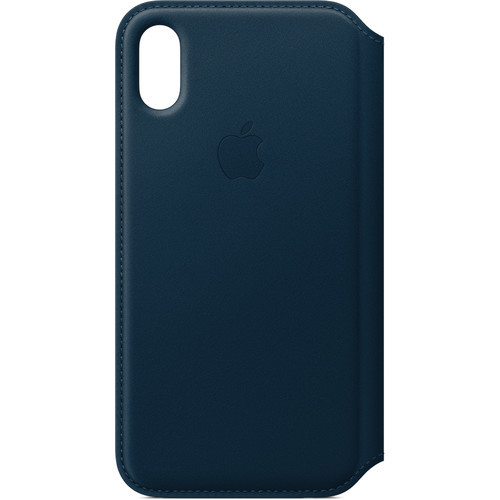 Аксессуары для смартфона Apple Чехол iPhone X Leather Folio - Cosmos Blue (MQRW2ZM/A)