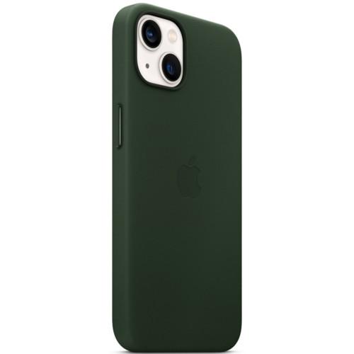 Аксессуары для смартфона Apple Чехол iPhone 13 Leather Case with MagSafe - Sequoia Green (MM173ZM/A)