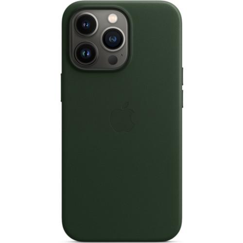 Аксессуары для смартфона Apple Чехол iPhone 13 Pro Leather Case with MagSafe - Sequoia Green (MM1G3ZM/A)