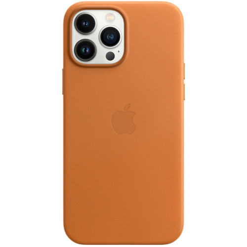 Аксессуары для смартфона Apple Чехол iPhone 13 Pro Max Leather Case with MagSafe - Golden Brown (MM1L3ZM/A)