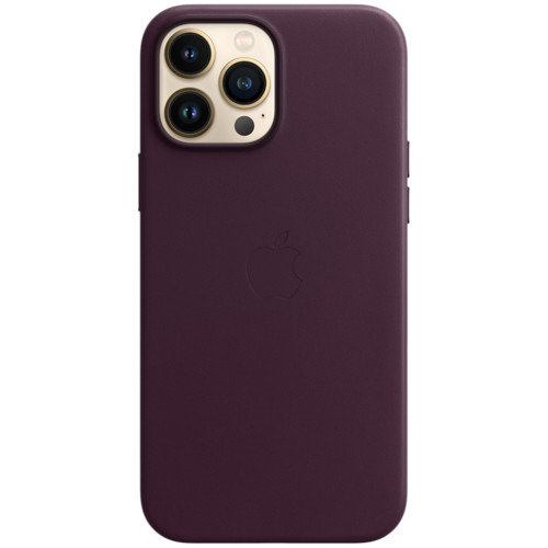 Аксессуары для смартфона Apple Чехол iPhone 13 Pro Max Leather Case with MagSafe - Dark Cherry (MM1M3ZM/A)