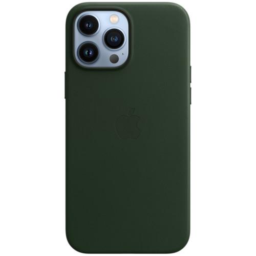 Аксессуары для смартфона Apple Чехол iPhone 13 Pro Max Leather Case with MagSafe - Sequoia Green (MM1Q3ZM/A)