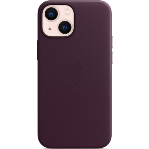 Аксессуары для смартфона Apple Чехол iPhone 13 mini Leather Case with MagSafe - Dark Cherry (MM0G3ZM/A)