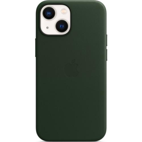 Аксессуары для смартфона Apple Чехол iPhone 13 mini Leather Case with MagSafe - Sequoia Green (MM0J3ZM/A)