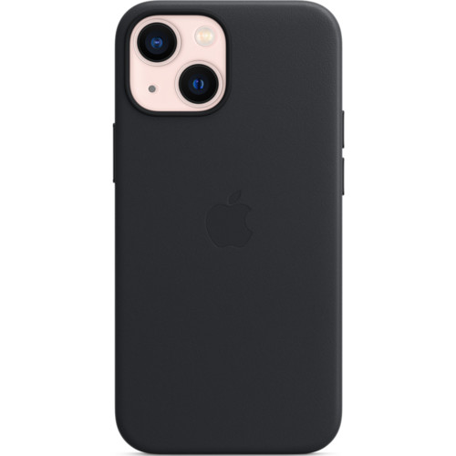 Аксессуары для смартфона Apple Чехол iPhone 13 mini Leather Case with MagSafe - Midnight (MM0M3ZM/A)