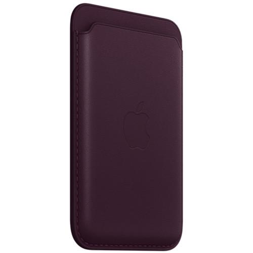 Аксессуары для смартфона Apple Чехол для карт iPhone Leather Wallet with MagSafe - Dark Cherry (MM0T3ZM/A)