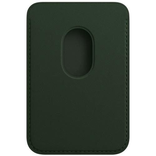 Аксессуары для смартфона Apple Чехол для картiPhone Leather Wallet with MagSafe - Sequoia Green (MM0X3ZM/A)