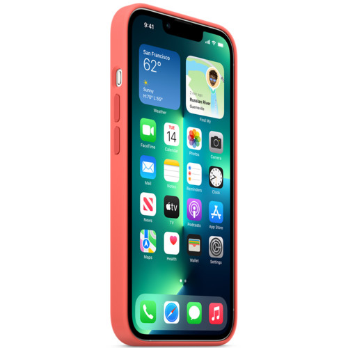 Аксессуары для смартфона Apple Чехол iPhone 13 Pro Silicone Case with MagSafe – Pink Pomelo (MM2E3ZM/A)