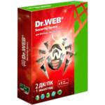 Антивирус Dr.Web Security Space, подписка на 1 год, на 2 ПК, карточка