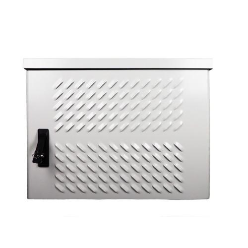 Серверный шкаф ЦМО Шкаф уличный всепогодный настенный 9U (Ш600 × Г300), передняя дверь вентилируемая (ШТВ-Н-9.6.3-4ААА)