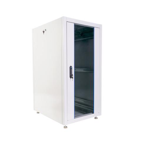 Серверный шкаф ЦМО Шкаф телекоммуникационный напольный ЭКОНОМ 24U (600 × 800) дверь стекло, дверь металл (ШТК-Э-24.6.8-13АА)