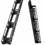 Аксессуар для серверного шкафа Estap Вертикальный  кабельный органайзер пальцевого типа с металлической крышкой для CloudMax Ш=800