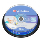 Оптический привод Verbatim Диск BD-R Verbatim 25Gb 6x Cake Box (10шт) Printable