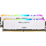 ОЗУ Crucial Ballistix RGB 32GB Kit (2 x 16GB) DDR4-3600 Desktop Gaming Memory (White)