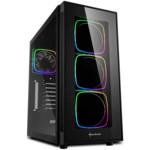 Корпус Sharkoon TG6 RGB led Black