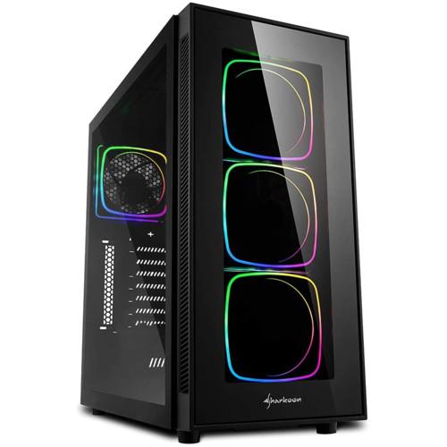 Корпус Sharkoon TG6 RGB led Black (TG6-RGB)