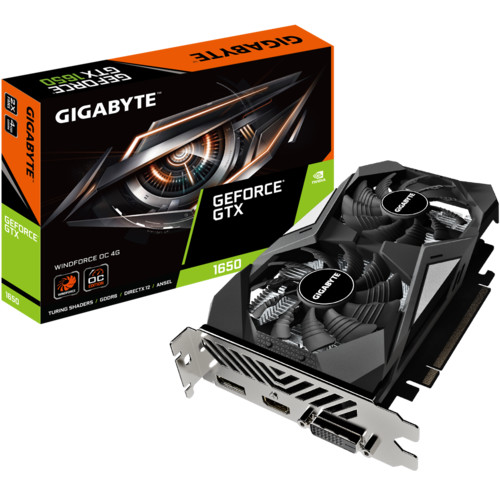 Видеокарта Gigabyte GeForce GTX 1650 D6 WINDFORCE OC 4G (rev. 2.0) (GV-N1656WF2OC-4GD V2)