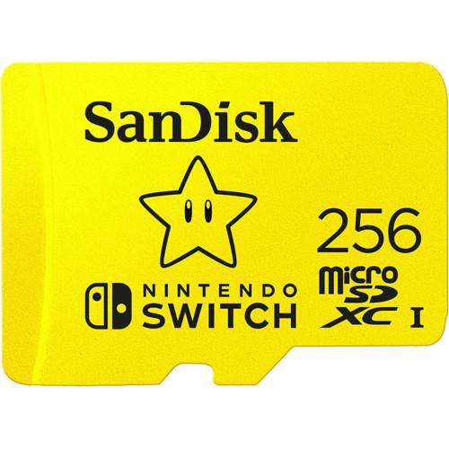 Флеш (Flash) карты SanDisk 256GB for Nintendo Switch (SDSQXAO-256G-GNCZN)