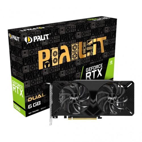 Видеокарта Palit RTX 2060 Dual (NE62060018J9-1160A-1)