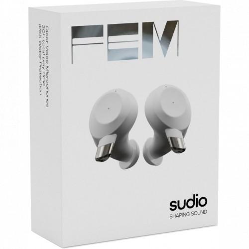 Наушники Sudio Беспроводные TWS наушники Fem White (FEMWHT)