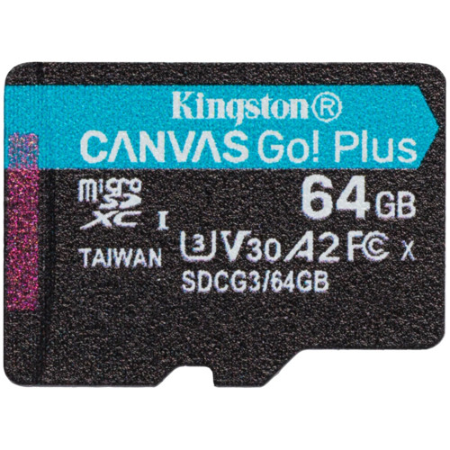 Флеш (Flash) карты Kingston 64GB microSDXC Canvas Go Plus (SDCG3/64GBSP)