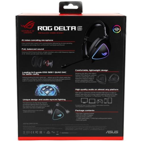 Гарнитура Asus ROG DELTA S USB-C (90YH02K0-B2UA00)