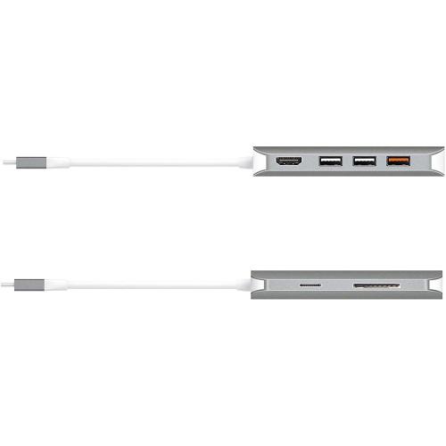 Аксессуар для ПК и Ноутбука j5create Мульти-переходник USB-C с HDMI / VGA / Ethernet / USB Type-A 3.1 / PD 3.0 (JCD384)