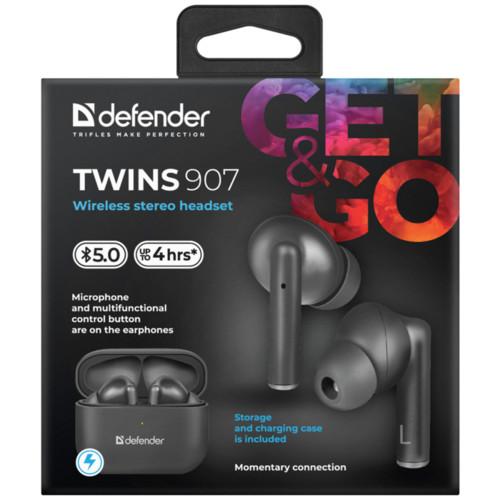 Наушники Defender Twins 907 (63907)