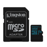 Flash карта Kingston 32GB microSDHC + SD Adapter