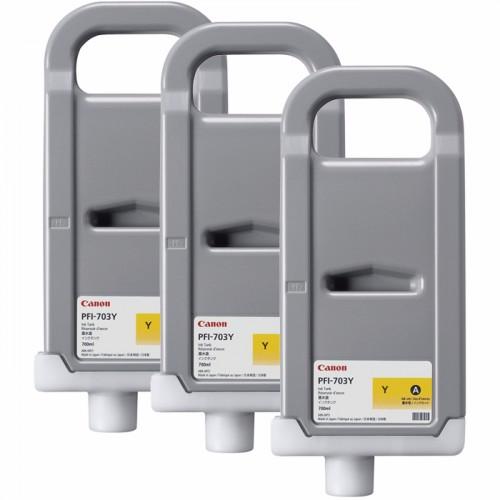 Струйный картридж HP PFI-703Y желтый тройная упаковка (2966B003)