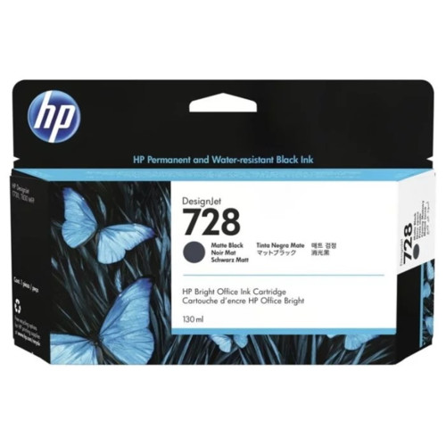 Струйный картридж HP 728 matte black (3WX25A)
