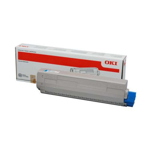 Тонер OKI C801/821 7.3K, Cyan (44643007/44643003)