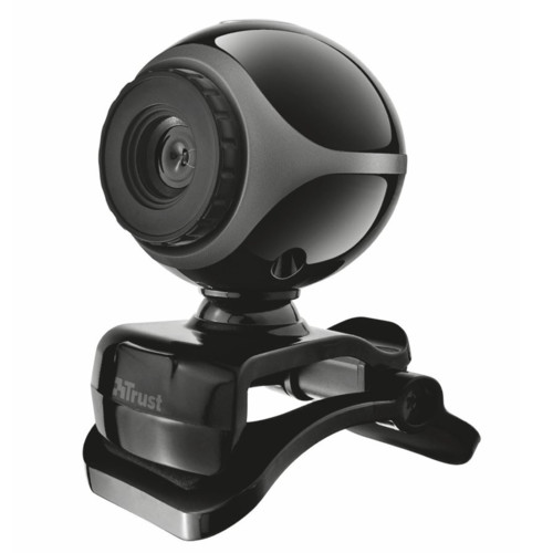 Веб камеры Trust Веб-камера Exis Webcam Black-Silver (17003BS)