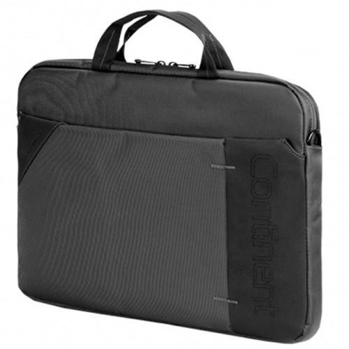 """Сумка для ноутбука Continent CC-205 GA для 15,6"""", черная с серым (1240886)"""