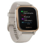 Garmin ENU Sq Music with Light Sand with Rose Gold Bezel