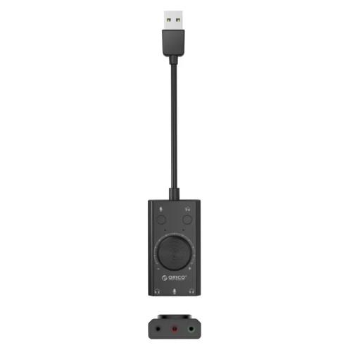 Аксессуар для ПК и Ноутбука ORICO Звуковая карта внешняя USB ORICO SC2-BK-EP USB2.0 (3767.2)