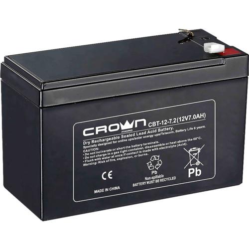 Сменные аккумуляторы АКБ для ИБП CROWN CBT-12-7.2 (CBT-12-7.2)