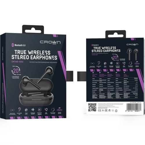 Наушники CROWN micro CMTWS-5006 black (CMTWS-5006black)