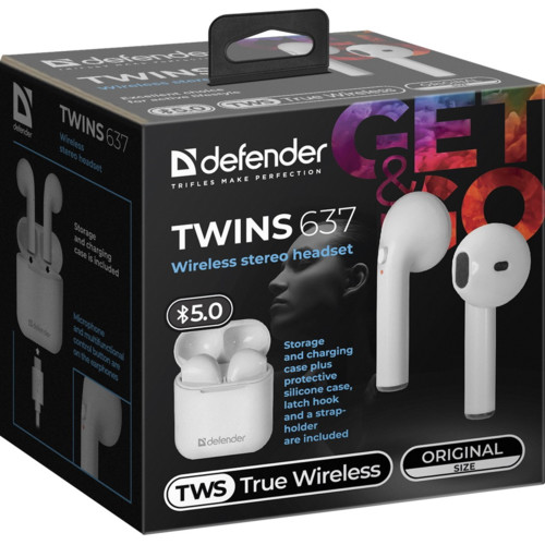 Наушники Defender Twins 637 (63637)