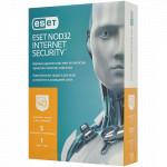 Антивирус Eset NOD32 Internet Security, подписка на 1 год на 5 устройств