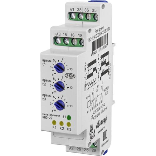 Опция для ИБП ЭКМ (Меандр) Реле времени трехцепное РВ3--22 ACDC24В/АС230В УХЛ4 Меандр (РВ3-22)