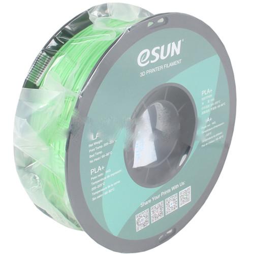Расходный материалы для 3D-печати ESUN 3D PLA+ Пластик eSUN Peak Green-Салатовый/1.75mm/1kg/roll (PLA+175V1)
