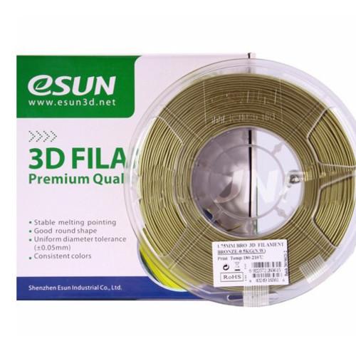 Расходный материалы для 3D-печати ESUN 3D Bronze Пластик eSUN Bronze/1.75mm/0.5kg/roll (BRO175A05)