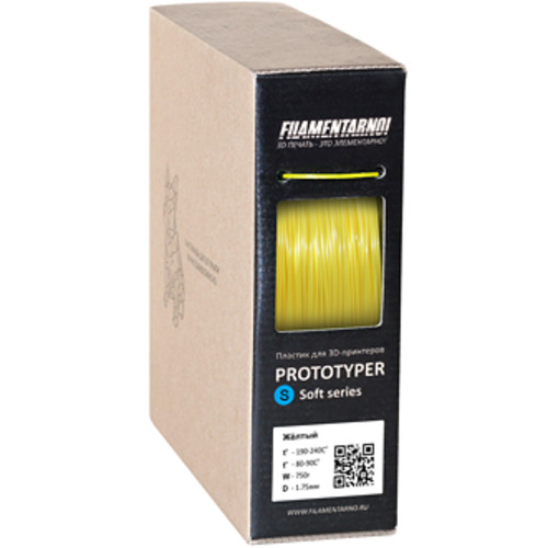 Расходный материалы для 3D-печати Filamentarno! 3D Prototyper S-Soft пластик Filamentarno! желтый/1.75мм/750гр (PSS175Ж750)