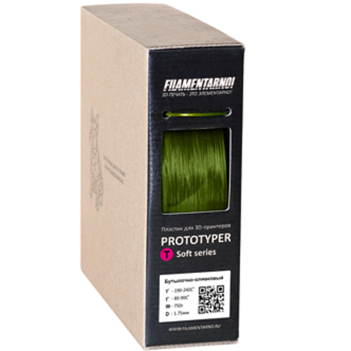 Расходный материалы для 3D-печати Filamentarno! 3D Prototyper T-Soft пластик Filamentarno!  бутылочно-оливковый/1.75мм/750гр (PTS175БО750)