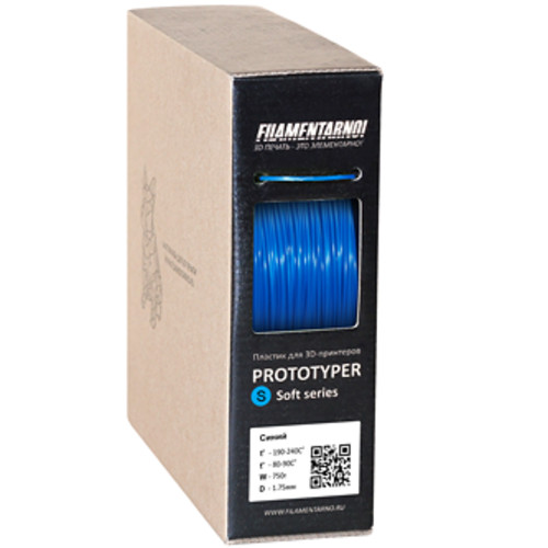 Расходный материалы для 3D-печати Filamentarno! 3D Prototyper T-Soft пластик Filamentarno! синий/1.75мм/750гр (PTS175C750)