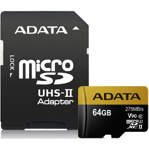 Флеш (Flash) карты ADATA microSDXC Class 10 + adapter SD (AUSDX64GUII3CL10-CA1)