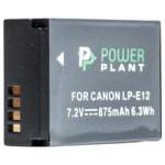 Аксессуар для фото и видео PowerPlant Canon LP-E12 875mAh
